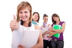 biały szczęśliwi odosobneni ucznie Zdjęcie Stock