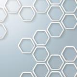 Biały sześciokąta Honeycomb Infographic Fotografia Stock