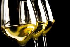 biały szkła wino trzy obrazy stock