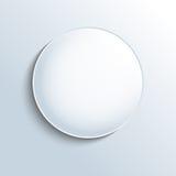 Biały szklany sfera kształta guzik Obraz Royalty Free