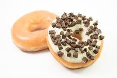 biały tło asortowani donuts Zdjęcie Stock