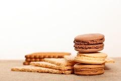 biały tło cukierki Fotografia Stock