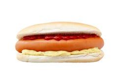 biały tło hotdogs Zdjęcie Royalty Free