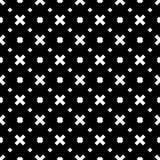 Biały tło i czerń repeted wzór Obraz Stock