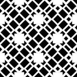 Biały tło i czerń repeted wzór Zdjęcia Stock