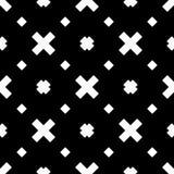 Biały tło i czerń repeted wzór Zdjęcie Stock