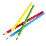 biały tło ołówki barwioni wielo- Fotografia Stock