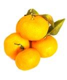 biały tło pomarańcze Obrazy Stock