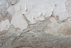 Biały tło, stary odłupany tynk na betonowej ścianie, tekstura fotografia stock