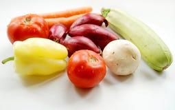 biały tło warzywa Zdjęcie Stock