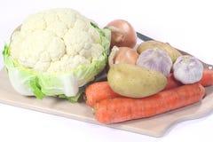 biały tło warzywa Obraz Royalty Free