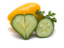 biały tło warzywa fotografia stock