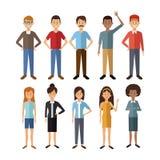Biały tło z pełnymi ciało grupy ludźmi światowa różnorodność royalty ilustracja