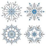 Biały tomowy płatek śniegu Obrazy Stock