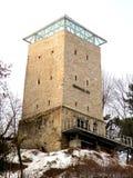 Biały towerin stary średniowieczny miasteczko Brasov (Kronstadt) Zdjęcia Stock