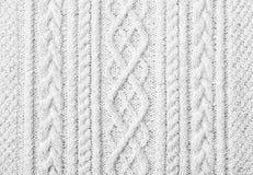 Biały trykotowy puloweru tło zdjęcie stock