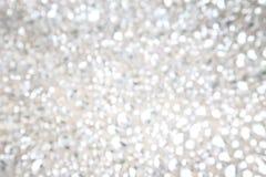 Biały wakacyjny abstrakcjonistyczny defocused tło Zdjęcie Stock