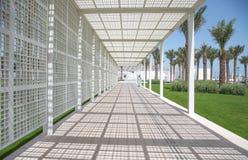 Biały wejście Abu Dhabi louvre muzeum Obrazy Royalty Free