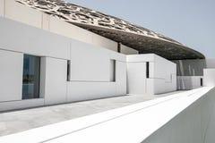 Biały wejście Abu Dhabi louvre muzeum Obrazy Stock