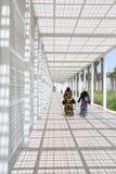 Biały wejście Abu Dhabi louvre muzeum Obraz Royalty Free