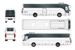 Biały Wektorowy autobusowy szablon royalty ilustracja