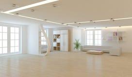 Biały wewnętrzny pojęcie dla żywego pokoju Zdjęcie Stock