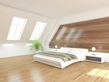 Biały wewnętrzny pojęcie dla sypialni Zdjęcie Stock