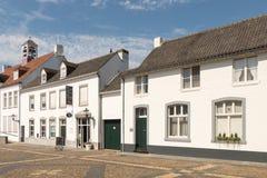 Biały wioska cierń w Limburg, holandie zdjęcie stock