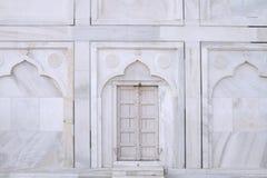 Biały Zamknięty drzwi Taj Mahal, Agra, Uttar Pradesh, India zdjęcia royalty free