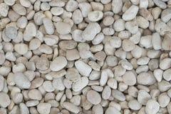 Biały Zaokrąglony skała kamieni tekstury abstrakta tło Zdjęcie Stock