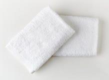 biały zdrojów ręczniki Zdjęcie Royalty Free