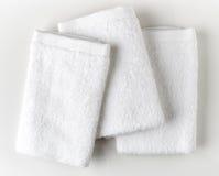 biały zdrojów ręczniki Fotografia Stock