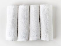 biały zdrojów ręczniki Obrazy Stock