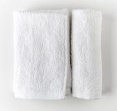 biały zdrojów ręczniki Zdjęcia Royalty Free