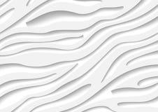 Biały zebra wzór z Trójwymiarowym skutkiem ilustracji