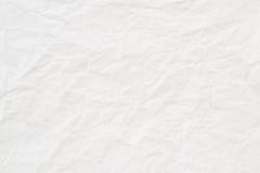 Biały zmięty papierowy tło lub tekstura Obrazy Stock