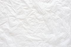 Biały zmięty papierowy tekstury tło Zdjęcie Royalty Free