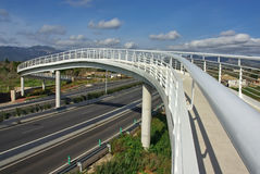 Biały zwyczajny most Zdjęcie Stock