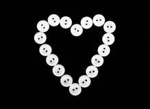 Białych guzików kierowy kształt Fotografia Royalty Free