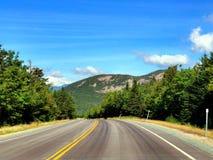 Białych Halnych las państwowy scenicznych przejażdżek asfaltowa droga zdjęcia stock