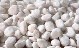 Białych otoczaków kamienna tekstura i tło Zdjęcia Royalty Free
