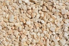 Białych otoczaków tła i tekstury kamienna fotografia Obrazy Stock