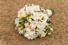 Białych róż panny młodej bukiet Obraz Stock