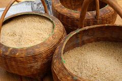 Białych ryż adra wewnątrz zdjęcia royalty free