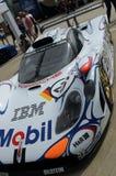 Białych 1990s GT bieżny samochód Zdjęcia Royalty Free