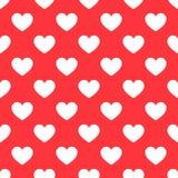 Białych serc czerwieni bezszwowy wzór ilustracja wektor
