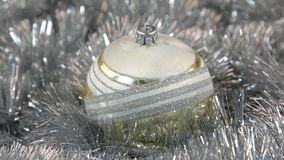 Białych wielkich nowego roku i bożych narodzeń dekoracj szklana piłka - dekoracje zbiory