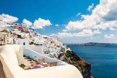Biała architektura na Santorini wyspie, Grecja Obraz Royalty Free