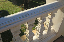 Biała Barokowa balustrada Fotografia Royalty Free
