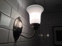 Biała benzynowa lampa Zdjęcia Royalty Free